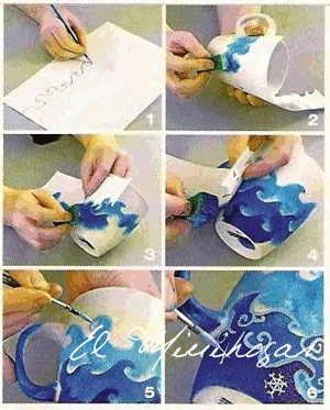 Como pintar tazas de ceramica