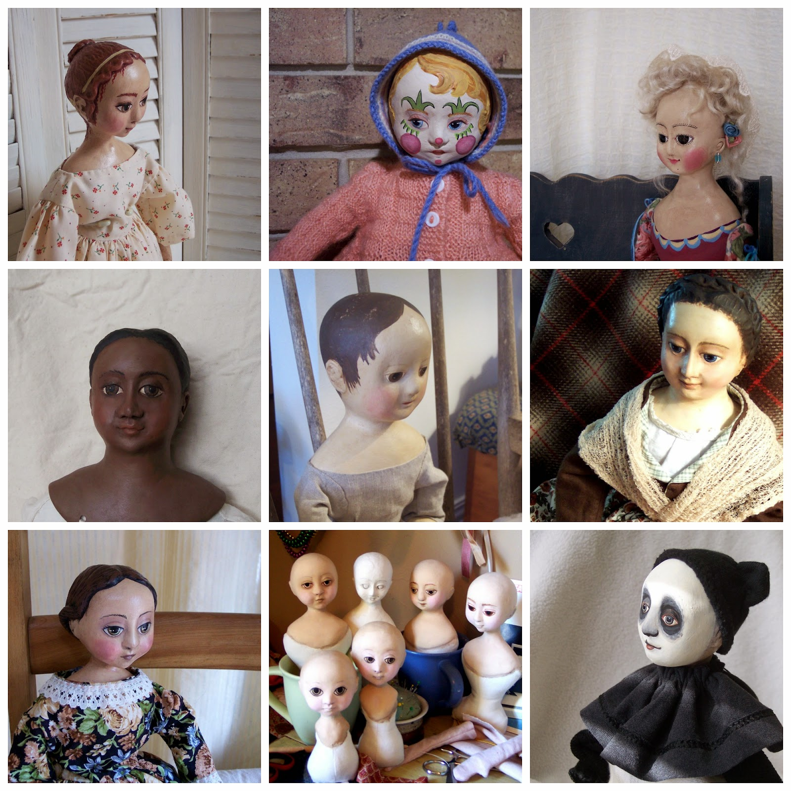 cloth and clay art dolls