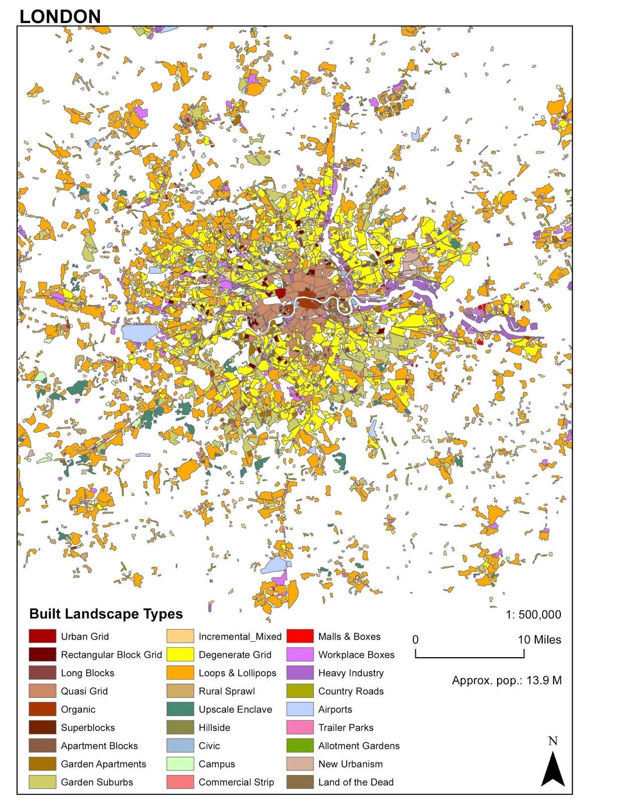 Built Landscapes of Metropolitan Regions (London)