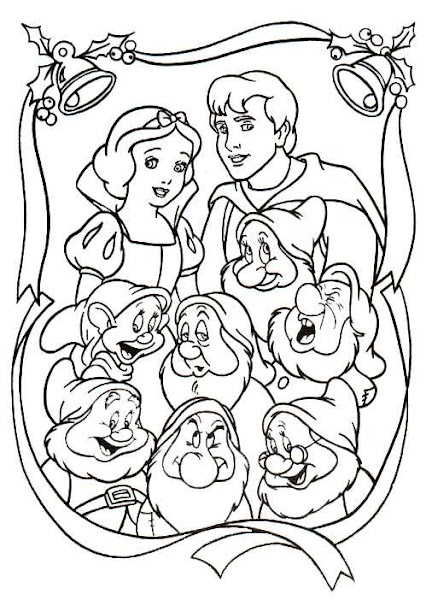 Snow White and Dwarfs Coloring Pages