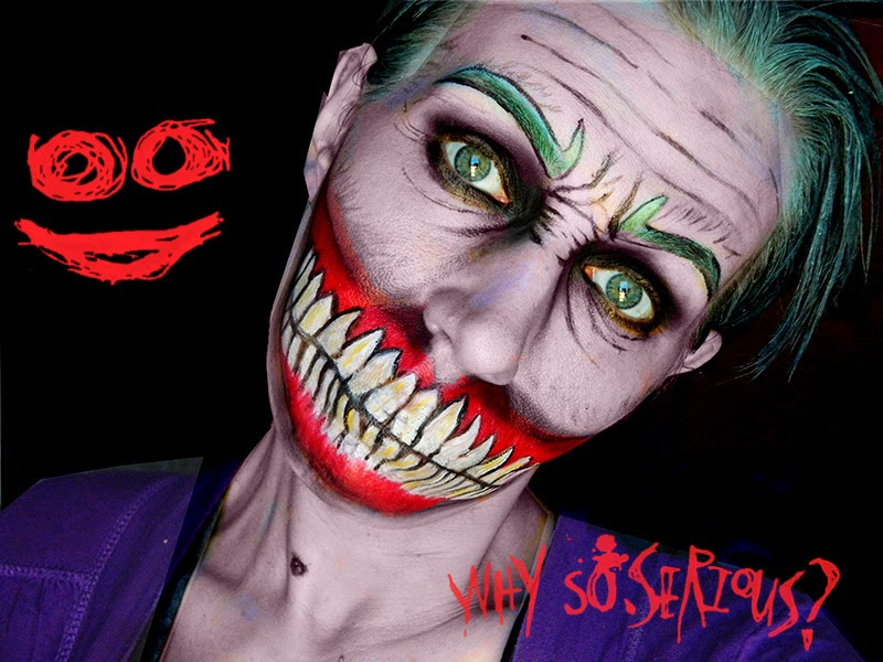 joker batman makeup maquillage