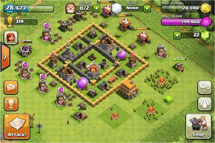 clash of clans strategy level 5