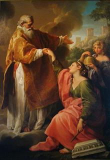 Pintura de San Marino Obra de Pompeo Batoni 1740. Puesta en el dominio público gracias al trabajo del Autor: Stefano Bolognini