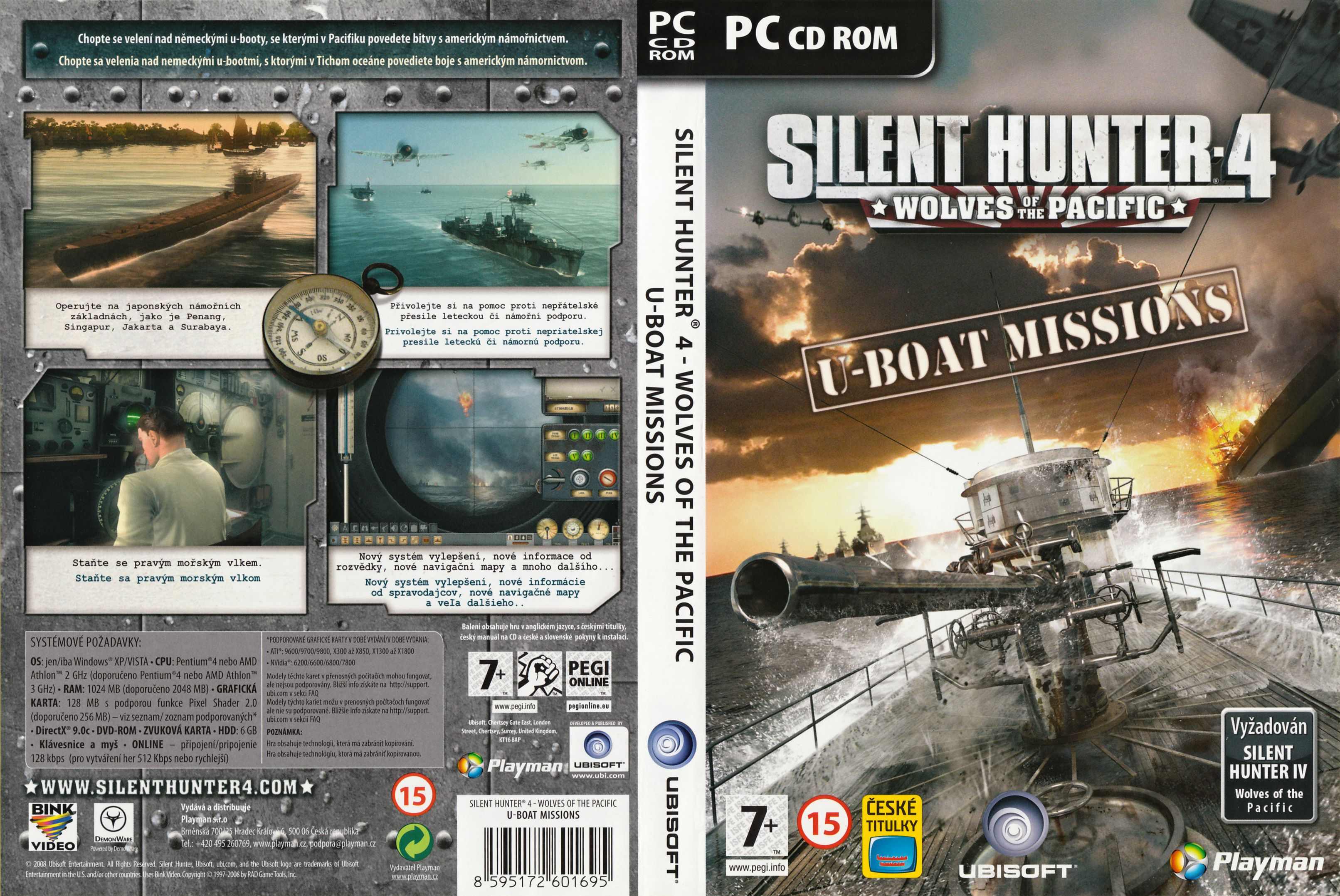 Capa Silent Hunter 4 Wolves Of The Pacific U-Boat Mission PC