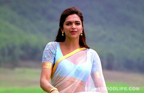 Deepika Padukone hot in saree from Chennai Express new ...