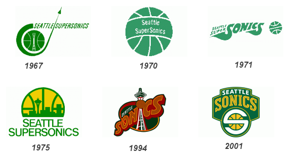 Seattle Supersonics Logos
