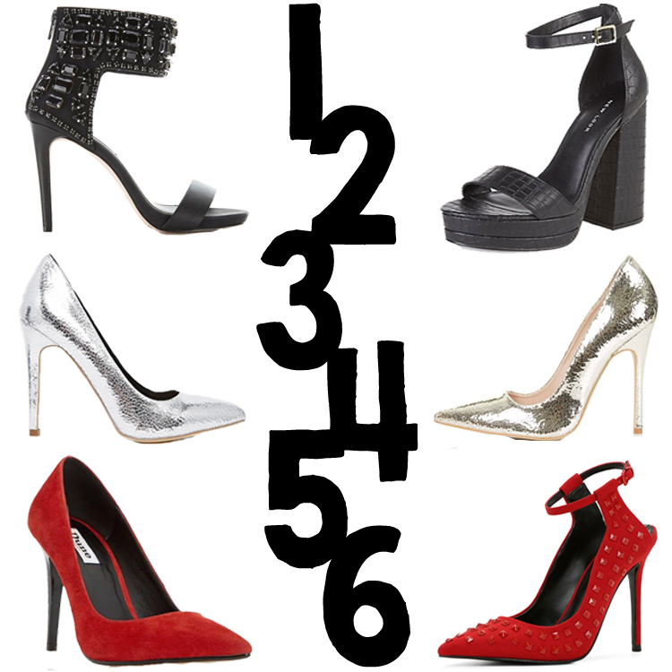 THE HEELS EDIT - MISS SELFRIDGE, NEW LOOK, ASOS, ALDO, DUNE, TOPSHOP