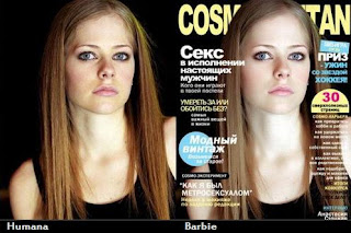 Avril Lavigne - pele limpa com photoshop