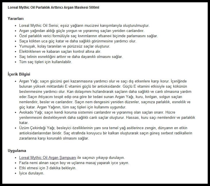 loreal - mythic oil - saç - maskesi
