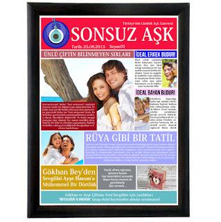 sevgiliye aşk gazetesi