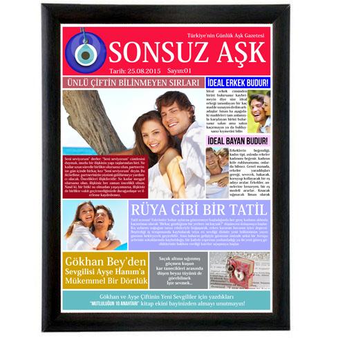 sevgililere özel aşk gazetesi