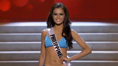 Janine Tugonon in her preliminary competition swimsuit