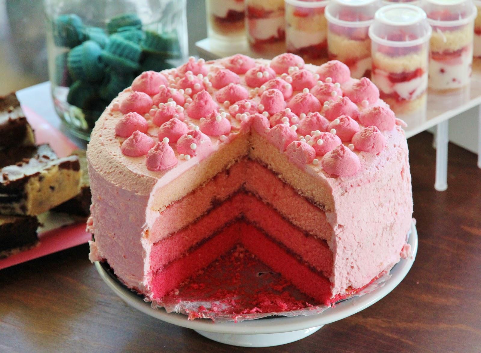 maja 39 s little bakery pink ombre torte. Black Bedroom Furniture Sets. Home Design Ideas