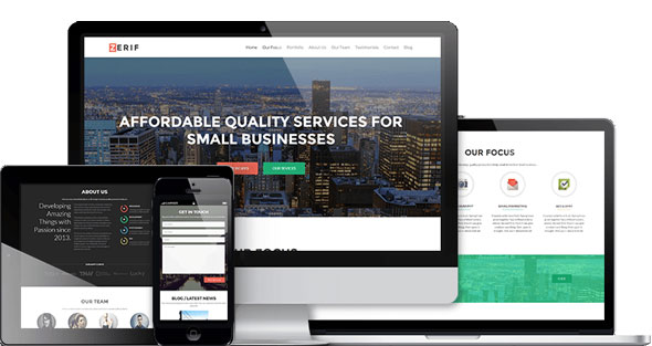 Free Download Zerif Pro - Business WordPress Theme