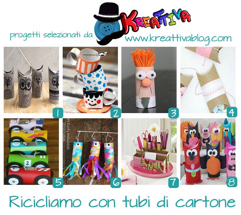 Kreattivablog riciclo tubi di cartone raccolta for Tubi cartone