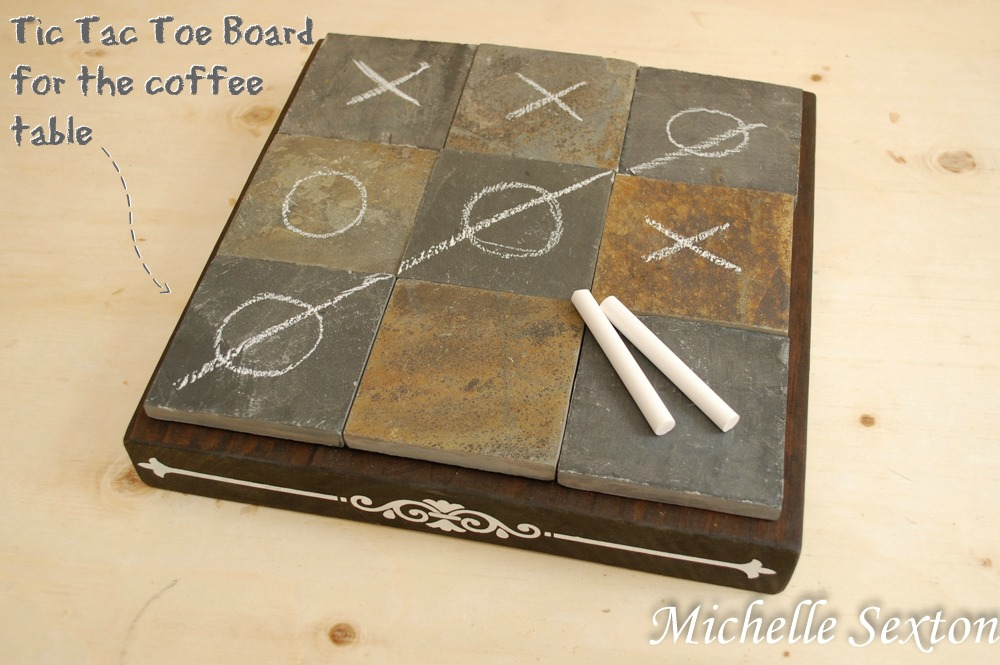 DIY Coffee Table Tic Tac Toe Board @ SoHeresMyLife.com