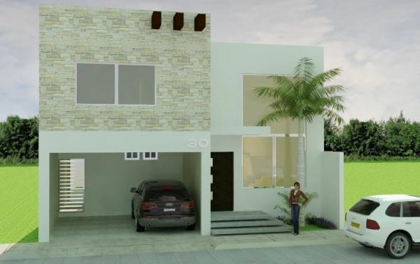 Fachadas minimalistas dise o de fachada minimalista for Diseno de fachadas