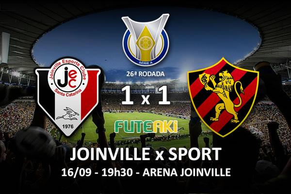 Veja o resumo da partida com os gols e os melhores momentos de Joinville 1x1 Sport pela 26ª rodada do Brasileirão 2015.