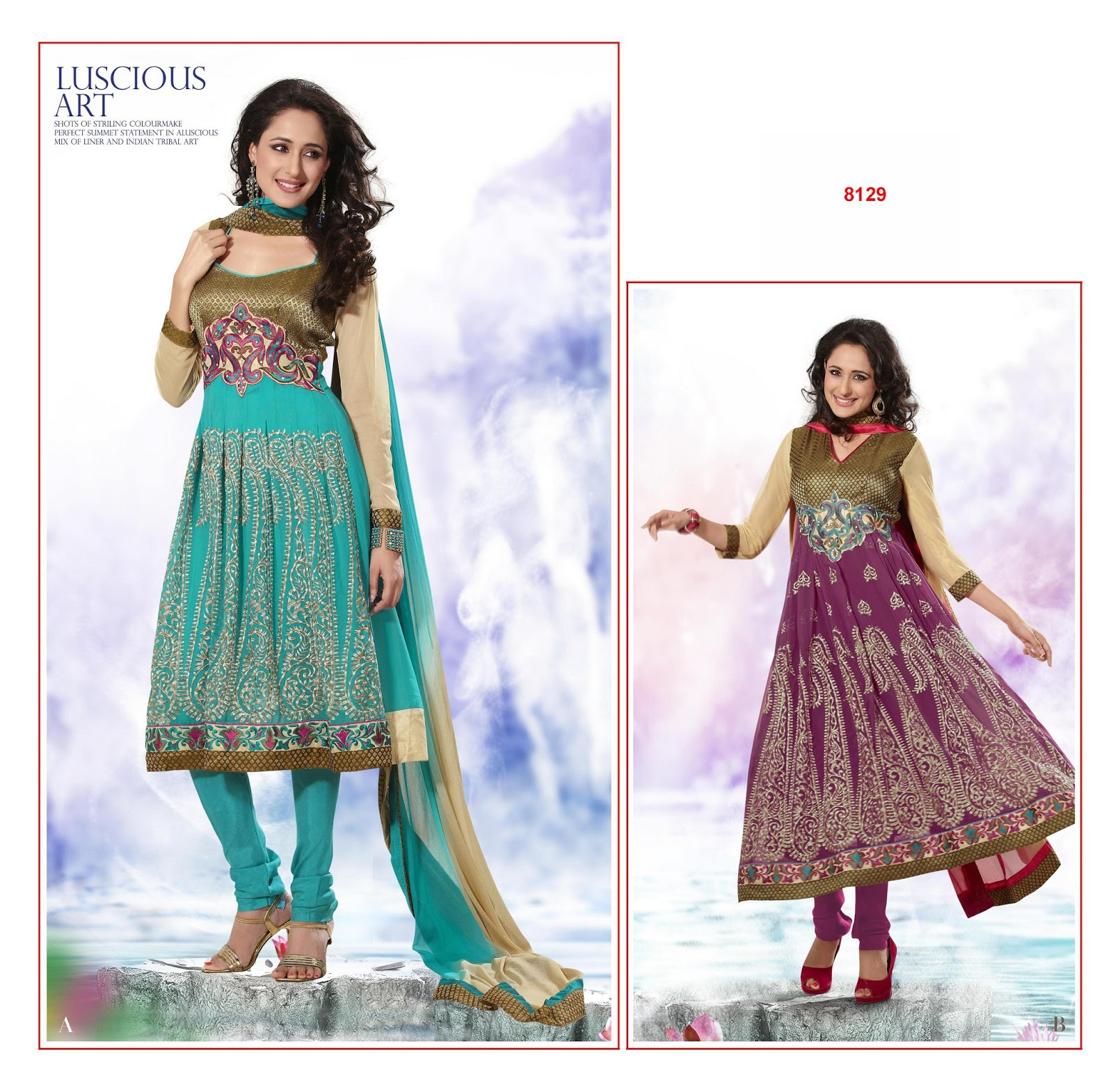 Anarkali salwar kameez online shopping in india - Designer