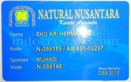 Kartu Keanggotaan PT Natural Nusantara