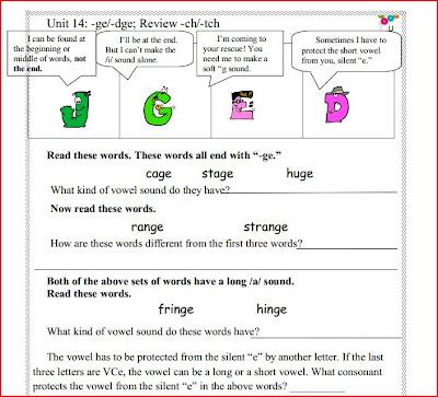 Sample of Spelling Mechanics Worksheets