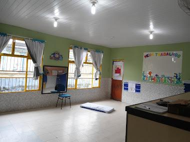 As salas foram pintadas e reformadas para proporcionar um ambiente maravilhoso as crianças