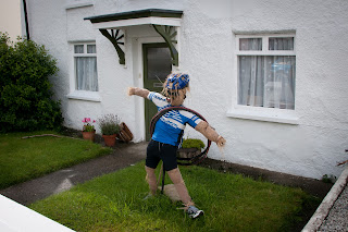 Olympic scarecrows Cornwall