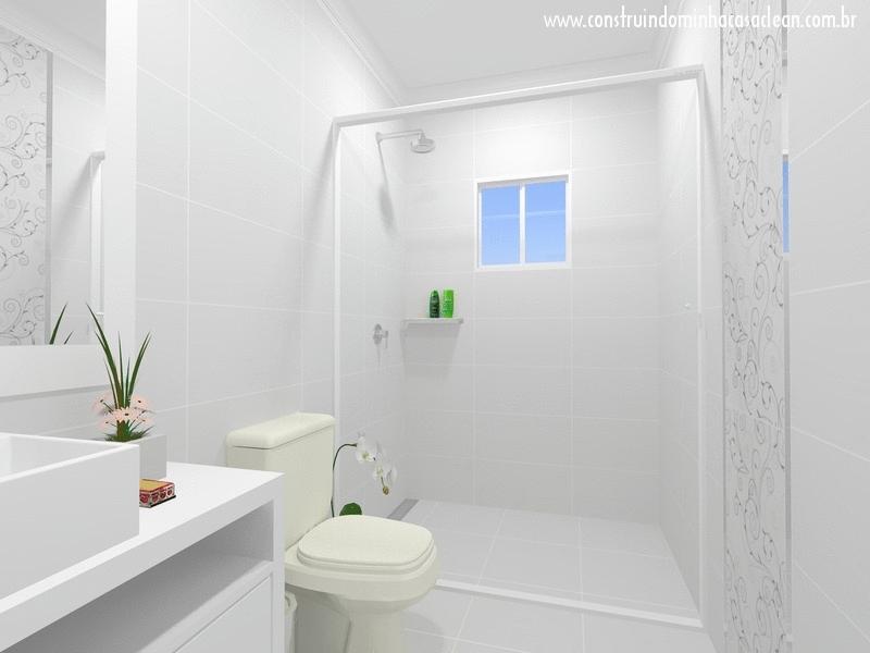 Construindo Minha Casa Clean Projeto do Banheiro Social! -> Banheiro Pequeno Pintado