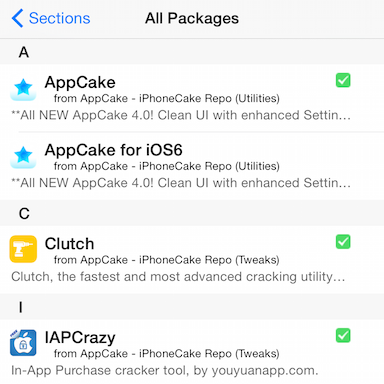 AppCake for iOS 8