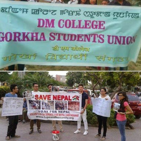 Gorkha Students of Imphal colleges starts fund raising campaign for Nepal quake victims