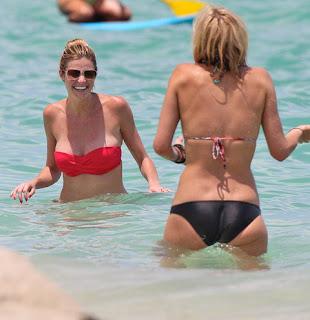 ERIN ANDREWS splashing in the water at Miami Beach