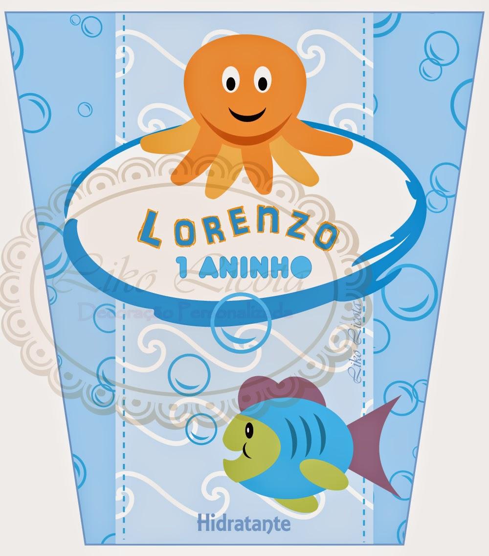 adesivo personalizado para festa tema fundo do mar