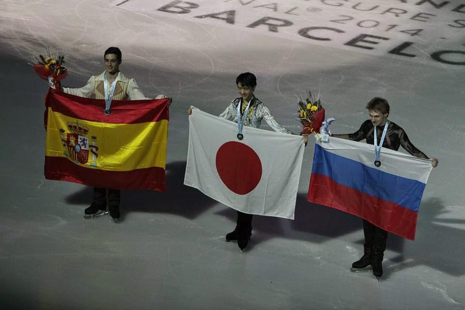 PATINAJE ARTÍSTICO (Final Grand Prix)- Hanyu reina en la final de Barcelona dejando a Javi la plata