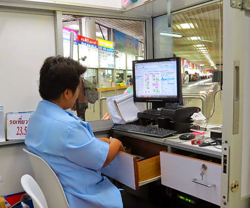 Ticket counter at the north BKK terminal