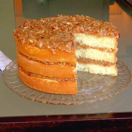One Perfect Bite: White Chocolate Cake with Coconut Pecan ...