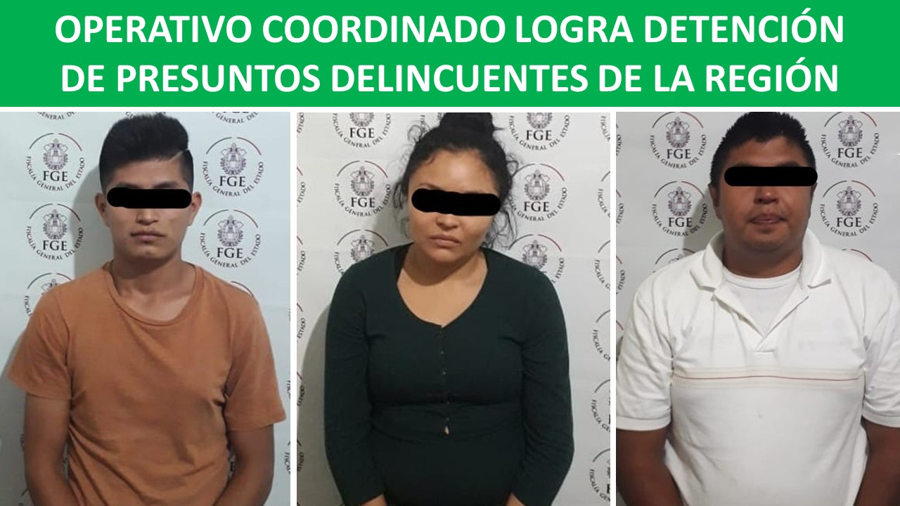 PRESUNTOS DELINCUENTES DE LA REGIÓN