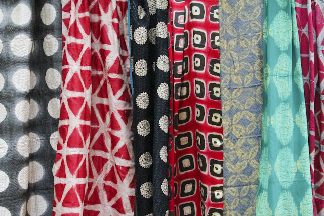 SIlk block printed dyed fabrics, contemporary indian design