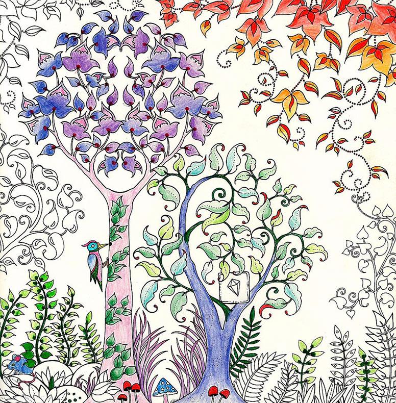 Artista británica crea libros para colorear para adultos y vende ...