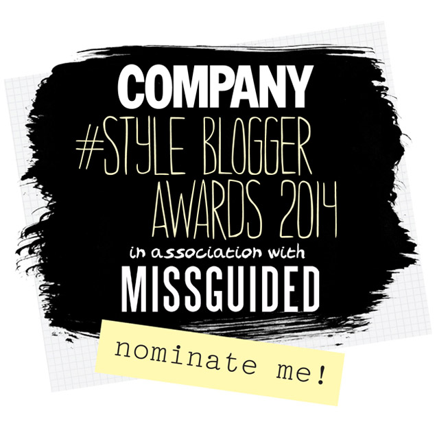 "It would mean the world to me if you vote my blog for ""best design/style"""