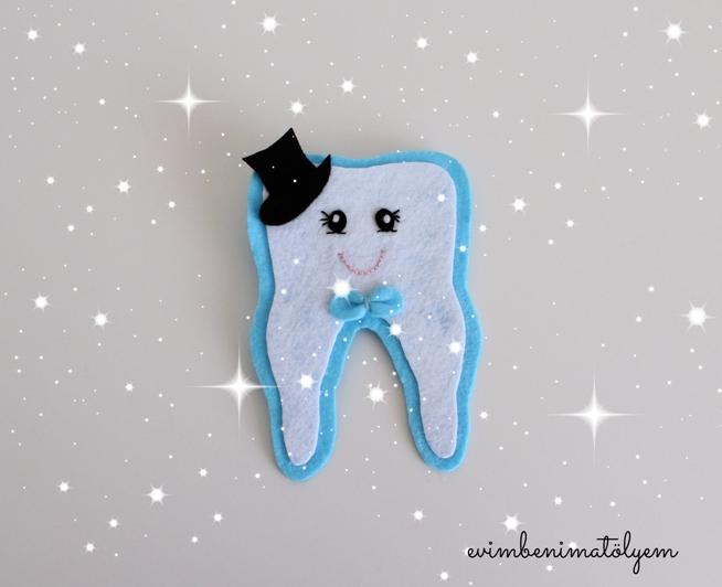 keçe diş broşu
