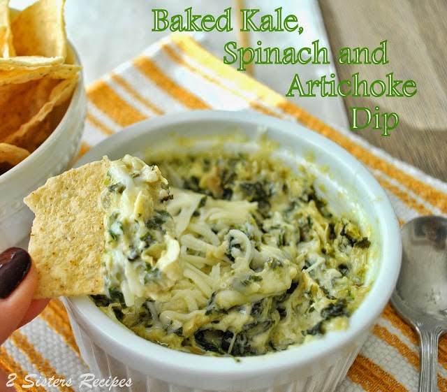 Baked Kale, Spinach and Artichoke Dip