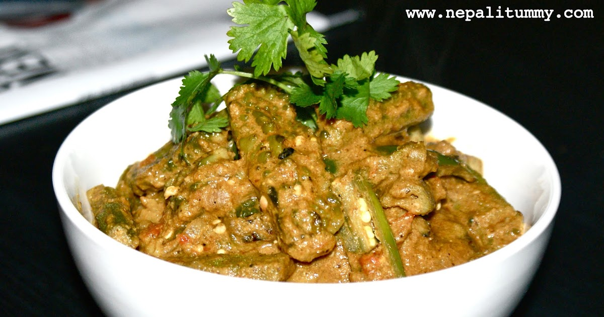 Nepali tummy bitter melon okra in sesame sauce bhindi karela curry - Bitter melon culture ...