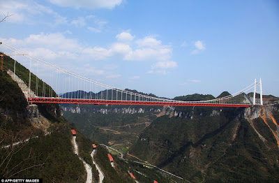 Aizhai Extra Large Suspension Bridge