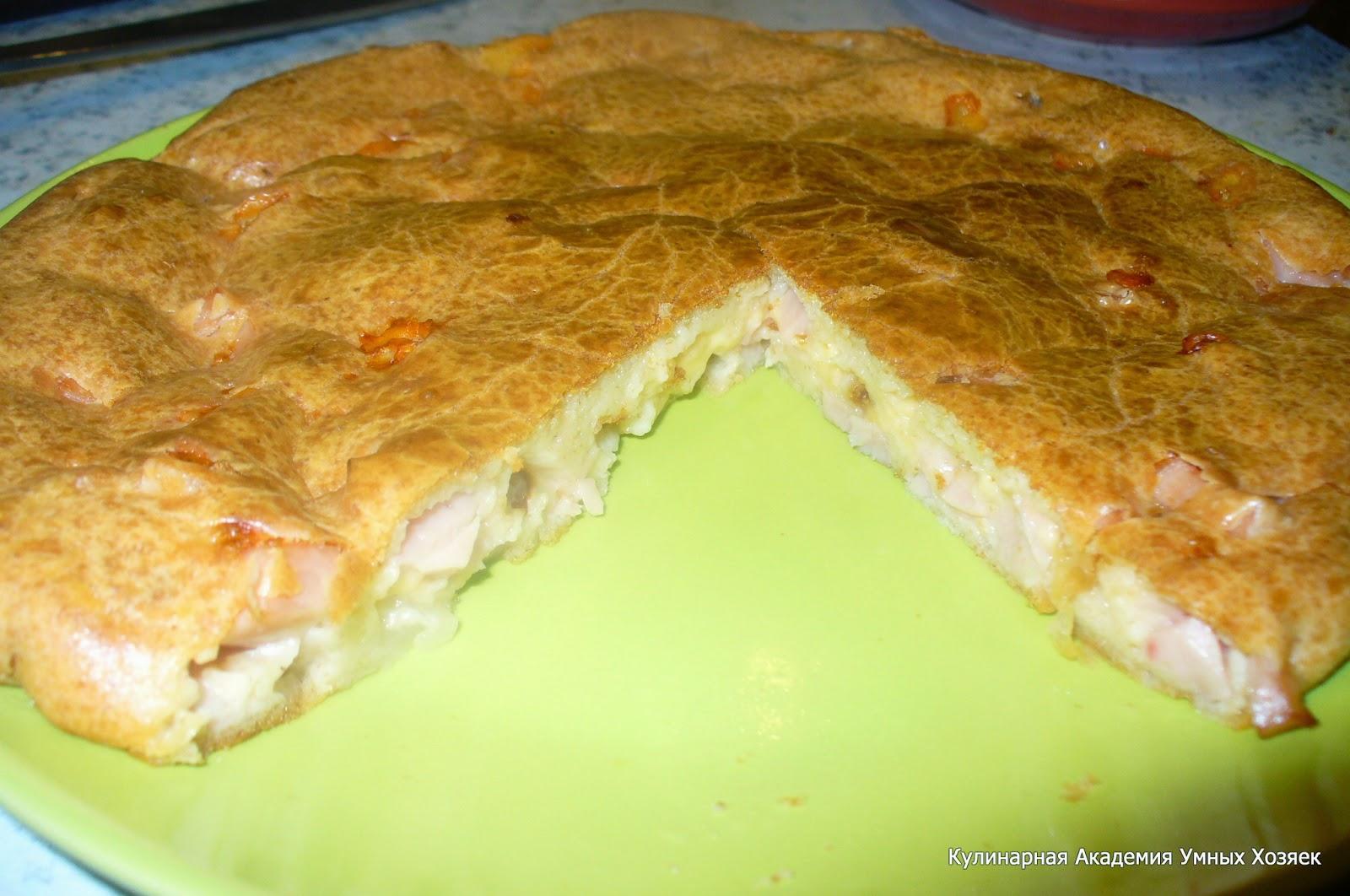 Дрожжевой пирог с рыбными консервами и капустой
