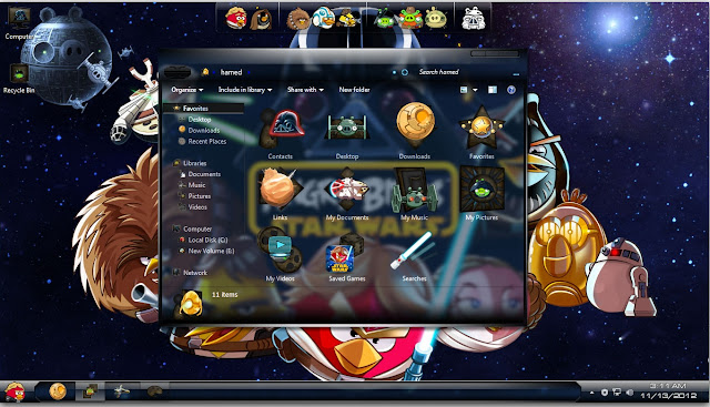 Skin Pack Angry Birds StarWars 1.0 for Windows 7