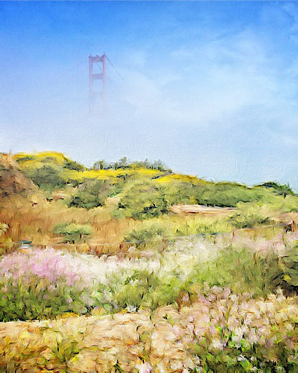 Painted by the Golden Gate Bridge © David Pasillas