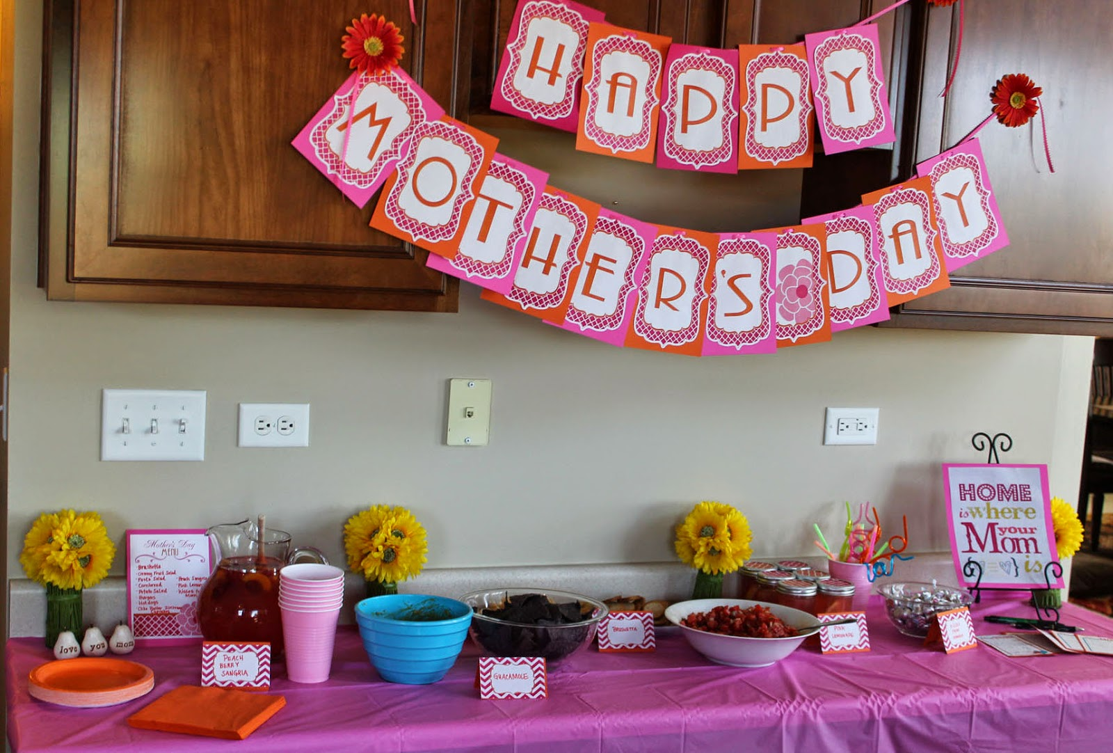Decoração de mesa dia das mães