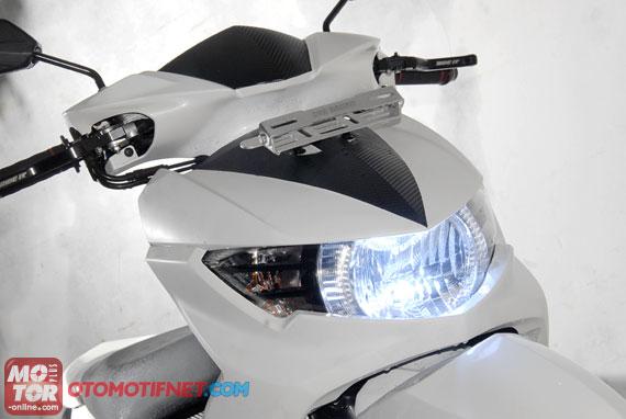 kumpulan modifikasi motor mio soul gt warna putih