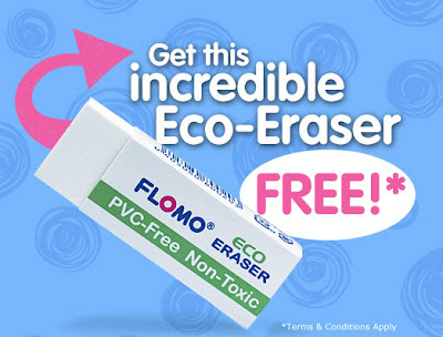 Free Eco Eraser from FLOMO on Facebook