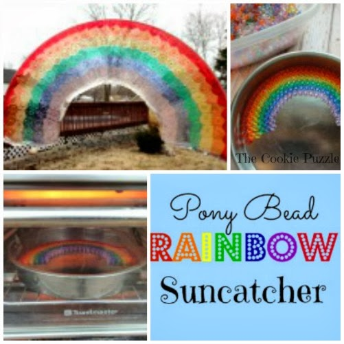 Rainbow Suncatcher Collage